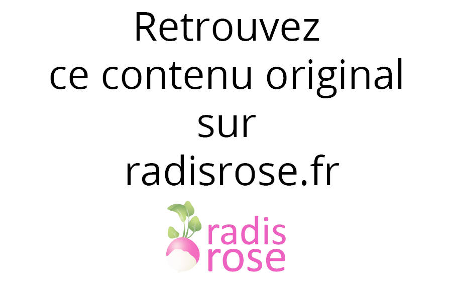 Vache de Normandie par radis rose